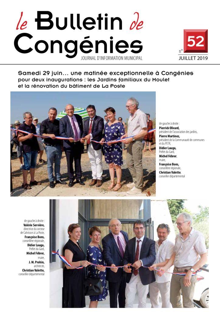 thumbnail of bulletin-Congenies-52-juillet-2019