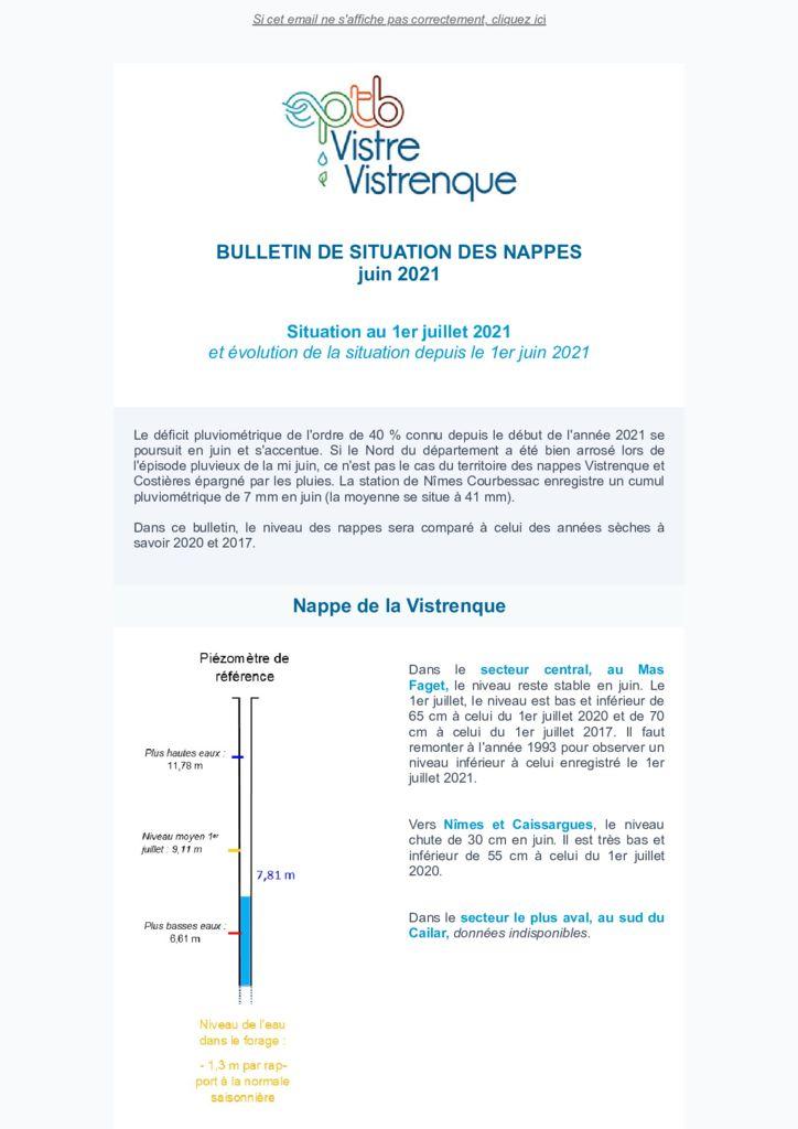 thumbnail of Bulletin de situation des Nappes – Juillet 2021