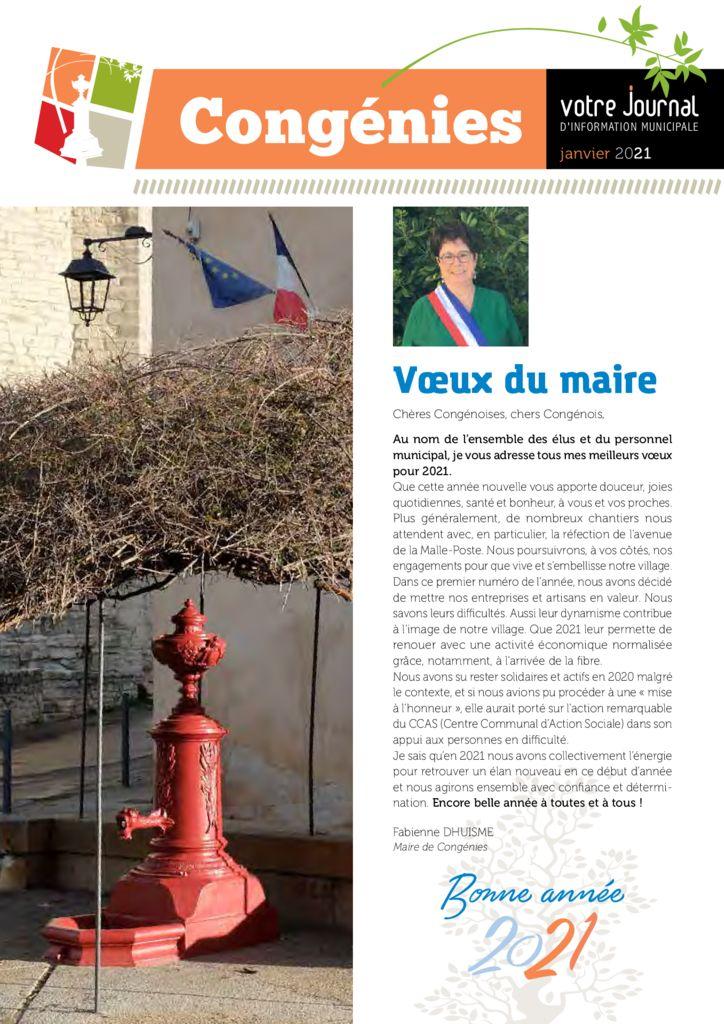 thumbnail of Votre Journal N2 – Janvier 2021